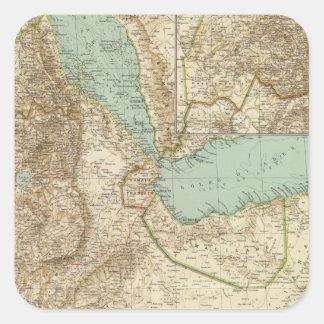 11617 Eritrea, Etiopien, Somalia Fyrkantigt Klistermärke