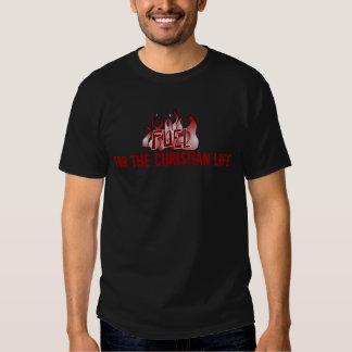 11778fuelburgandy för det kristna livet tshirts