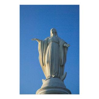 118 fot staty av den jungfruliga Maryen på San Fototryck
