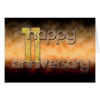 11th årsdag för lycklig (bröllopsdagen) hälsningskort