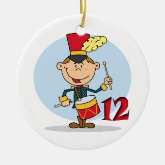 12 dagar av att trumma för handelsresandear för julgransprydnad keramik