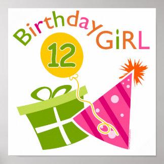 12:efödelsedagflicka poster