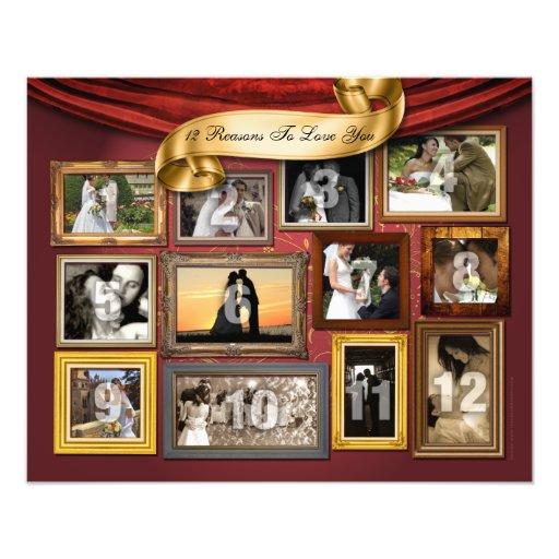 12 hjärtor som gifta sig affischfotoförstoringen fotografi