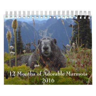 12 månader av den förtjusande kalendern för kalender