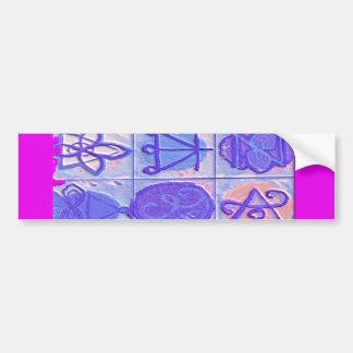 12 Reiki n Karuna Reiki undertecknar - rosagränsen Bildekal