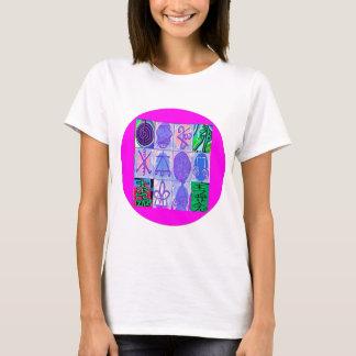 12 Reiki n Karuna Reiki undertecknar - rosagränsen T-shirts