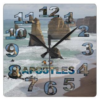 12 som Appostles Australien kvadrerar väggen, tar Fyrkantig Klocka