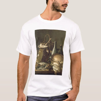 131-0058519/1 stilleben med fisken, Leeks och Brea T-shirt