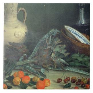 131-0059642 stilleben med frukt och grönsaker kakelplatta