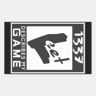 1337 Leet klassa Rektangulärt Klistermärke