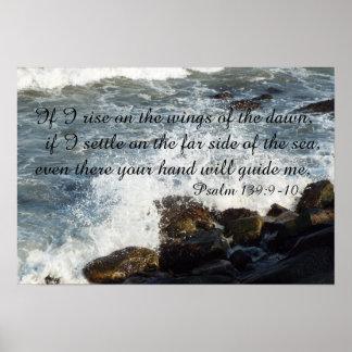 139:9 för bibelcitationsteckenPsalm - affisch 10