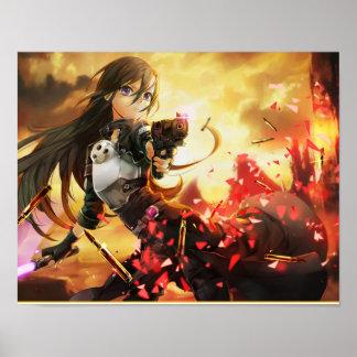 """14"""" x 11"""", (Matte) Animeaffischpapper, Poster"""