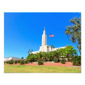 """14"""" x 11"""" tempel för foto LDS Los Angeles"""