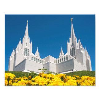 """14"""" x 11"""" tempel för foto LDS San Diego"""