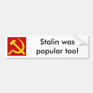150px-Hammer_and_sickle.svg Stalin var populär… Bildekal
