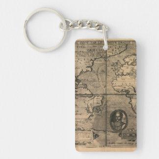 1581 antika världskarta av Nicola skåpbil Sype