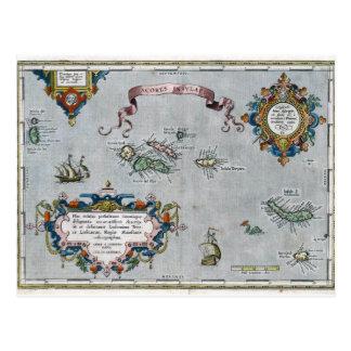 1584 Azores karta Vykort