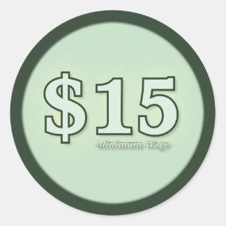 $15 kontant klistermärkear ljusa för minimum runt klistermärke