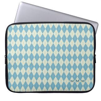 """15"""" laptop sleeve för MonogramArgyle Neoprene Laptopskydd"""