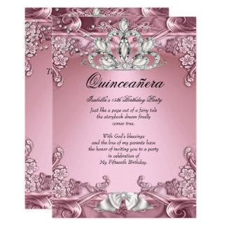 15th födelsedagsfest för Quinceanera rosor 12,7 X 17,8 Cm Inbjudningskort