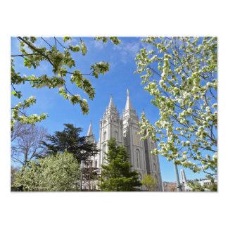 """16"""" X 12"""" Salt Lake City LDS tempel Fototryck"""