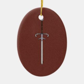 16th Århundrade uthärda svärd Julgransprydnad Keramik