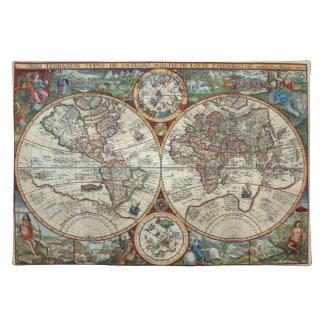 16th Århundradevintagekarta - Orbis Plancius 1594 Bordstablett