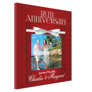 16x16 för årsdagfoto för Ruby 60th anpassningsbar Canvastryck