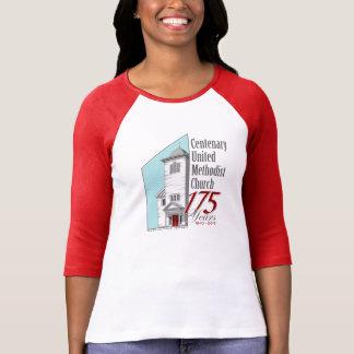 175. Årsdagkvinna 3/4 T-tröja för sleeve Tee Shirt