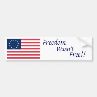 1776 frihet, var inte, frigör!! bildekal