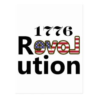 "1776 ""kärlekUSA"" revolution Vykort"