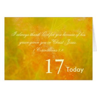 17th Födelsedag Hälsningskort