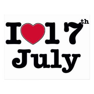 17th juli min dagfödelsedag vykort