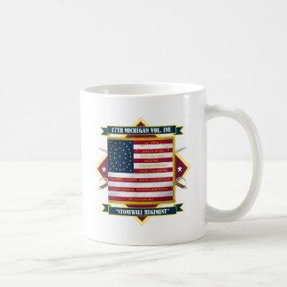 17th Skjortor för Michigan volontärinfanteri Kaffemugg