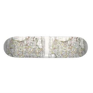 1806 karta - Lafrankrikeen 32 Gouvernements Old School Skateboard Bräda 18 Cm