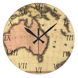 1818 Australasia karta - Australien som är Stor Rund Klocka