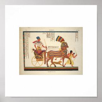 1835 sällsynta egyptiska bild poster