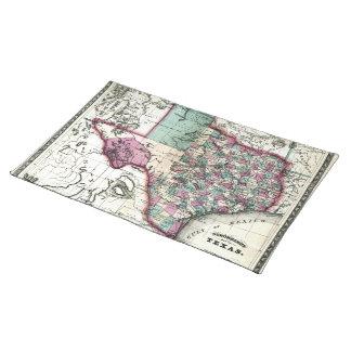 1866 antikvariska karta av Texas vid Schönberg & Bordstablett