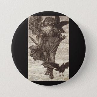 1871 Odin, Norsegud av krig Mellanstor Knapp Rund 7.6 Cm