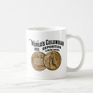 1893 Columbianutläggningvärlds mässa Chicago Kaffemugg