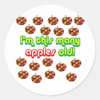 18 detta många gammala äpplen runt klistermärke