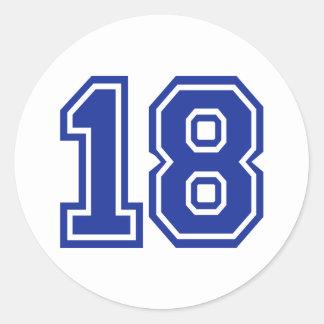 18 - En arton Runt Klistermärke