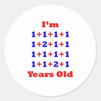 18 gammala år! runt klistermärke