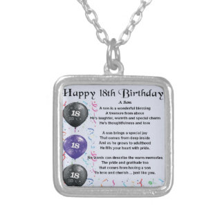 18th födelsedag för Sondikt Silverpläterat Halsband
