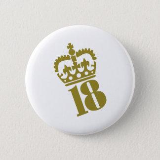 18th födelsedag - numrera - en arton standard knapp rund 5.7 cm