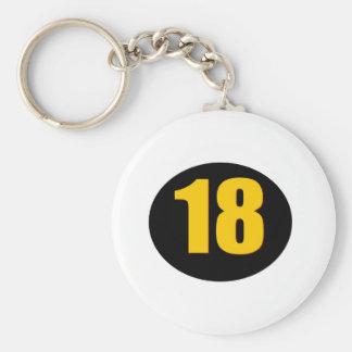 18th Födelsedag Rund Nyckelring