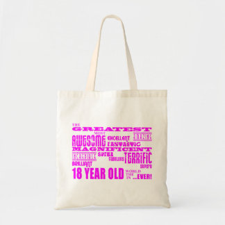 18th födelsedagar för flickor: Årig rosa största Tygkasse