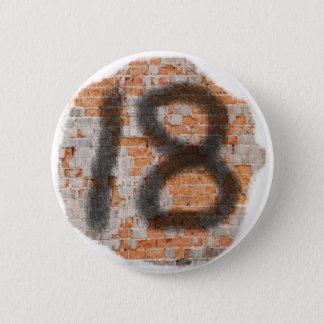 18th födelsedaggåvor för grafitti standard knapp rund 5.7 cm