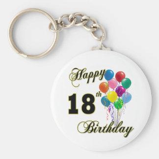 18th födelsedaggåvor för lycklig rund nyckelring