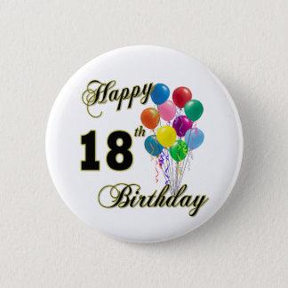 18th födelsedaggåvor för lycklig standard knapp rund 5.7 cm